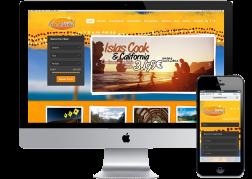 Diseño y desarrollo de la web de búsqueda de viajes de www.Auzeland.com © 2013