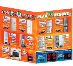 Diseño gráfico para un folleto publicitario para facilitar el aumento de ventas de productos en las acciones comerciales de elektroutlet