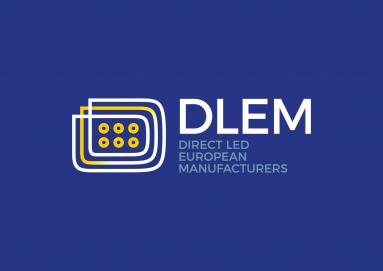 Logotipo oficial de la marca española de bombillas de LED DLEM imagen desarrollada por carlos gascue
