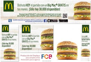 """Formatos de Banners en flash la campaña de Display """"Mundial 2014"""" de MacDonalds hecha para la agencia FCB en RichMedia"""