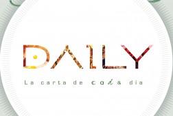 diseño de el logotipo de la cadena daily para la portada de los menus de la cadena del restaurante
