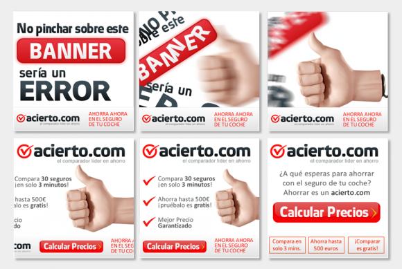 Produccion de banner y creatividad Intersticial para Acierto.com