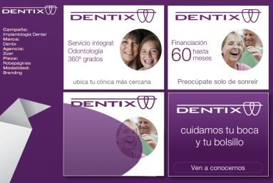 Animación de banners en flash, html5, gif para campañas de display para Dentix