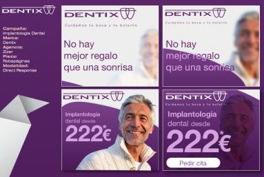 Animación de banners en flash, html5, gif para campañas de display para Dentix