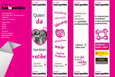 Producción de creatividades para campañas de Display para GDN / SEM Fundación Haz lo posible