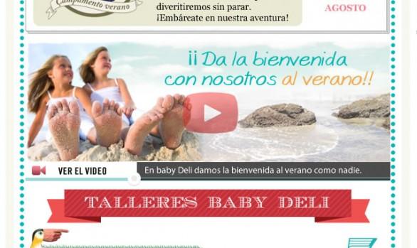 Diseño y Desarrollo de emailings para la franquicia de Tiendas Baby Deli Madrid ( emails, newsletters y promociones en Facebook )