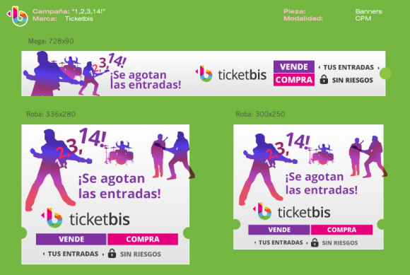 Diseño de banners, display para campañas online