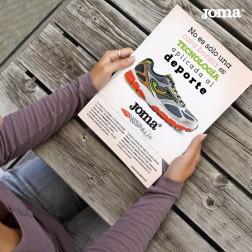 creación de la campaña ATL de comunicacion y publicidad de las zapatillas Joma por la agencia creativa Brandesign ganadora de la cuenta