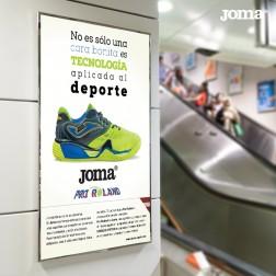 mutis mobiliario urbano diseño campaña publicidad producto Joma Brandesign agencia diseño creatividad rapida