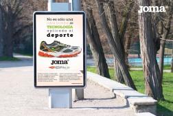 Diseño de piezas gráficas para campañas en exteriores JOMA