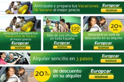 Conceptualización y Diseño de los banners in-site y out-dite de Europcar España