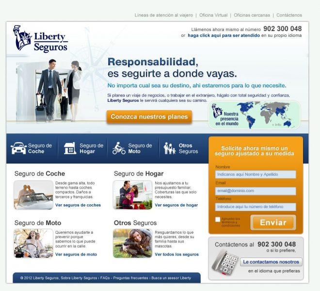 Landing page para campañas de generación de leads y captación lead nurturing agencia creativa madrid