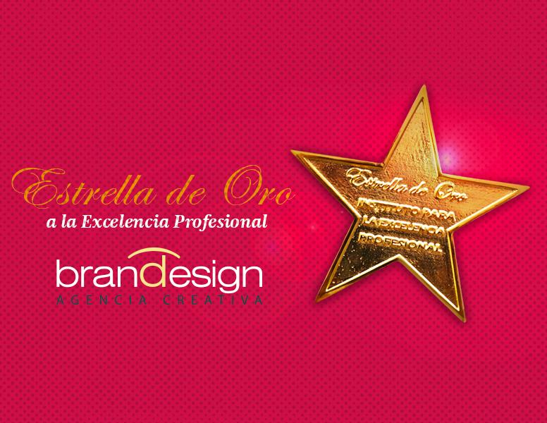 La agencia creativa de branding y estudio de diseño gráfico Brandesign obtiene el premio Estrella de Oro a la excelencia profesional por la comunidad de madrid y el instituto de la excelencia
