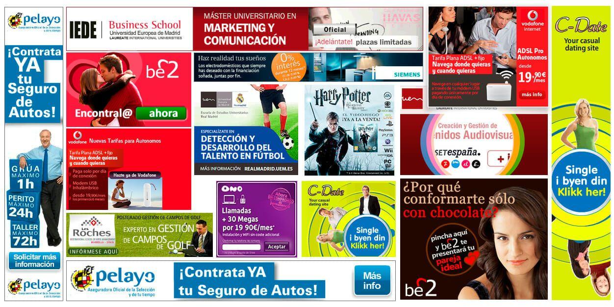 Banners creatividad para campañas online richmedia gifs animados