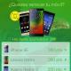 pantalla corte de smartphone para el diseño de interfaz grafica UI UX GUI de operador de movil