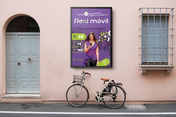 Gráficas para el lanzamiento de la marca Flexi Movil