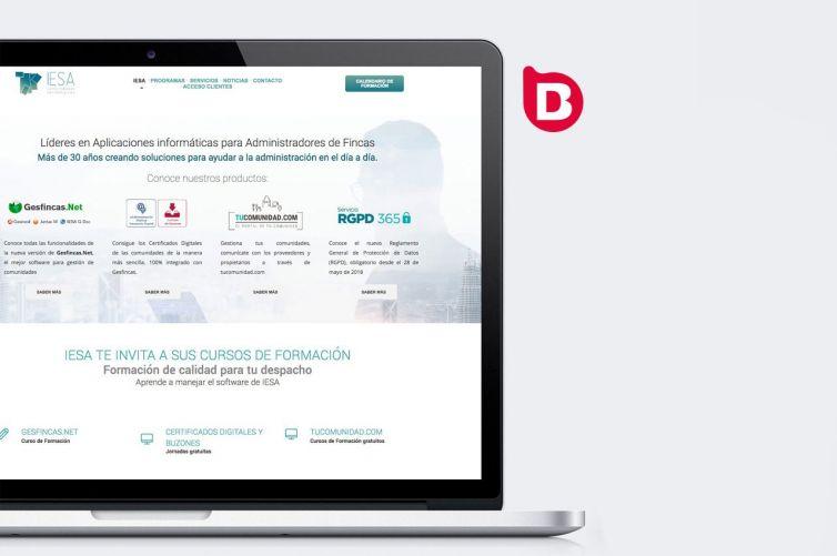Desarrollo de la web corporativa de IESA