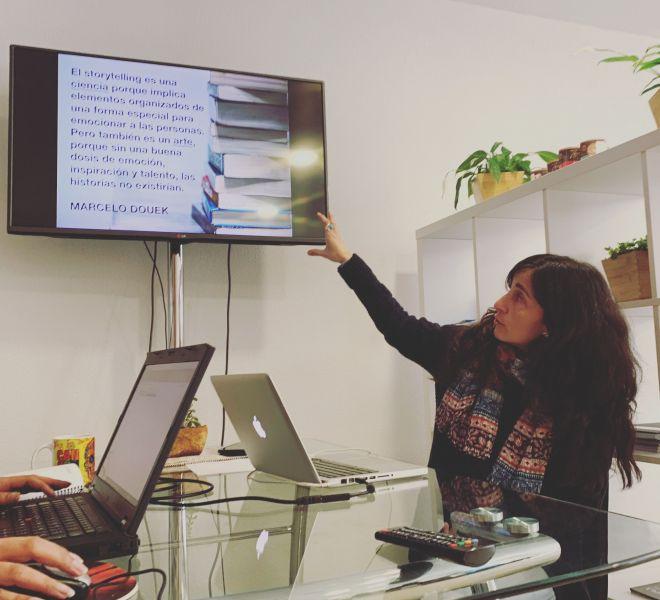 Felicidad nos da una charla sobre StoryTelling