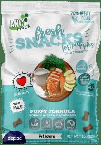 Diseño de producto Snacks para Perros para Fresh Snacks © 2019 Brandesign