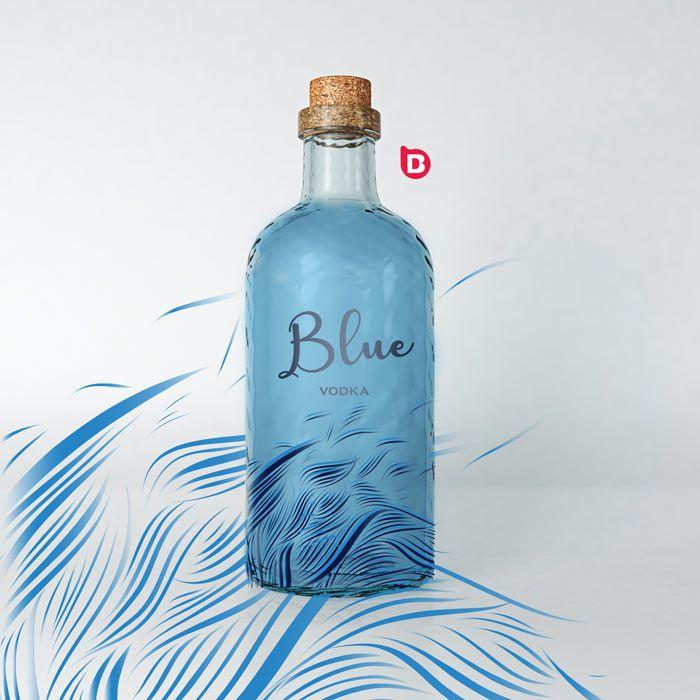 Diseño de etiqueta para botella de producto label