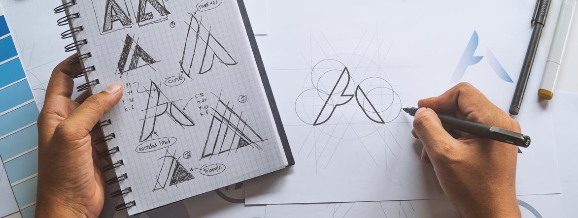 Diseñador grafico diseño de logotipos agencia de branding vector design