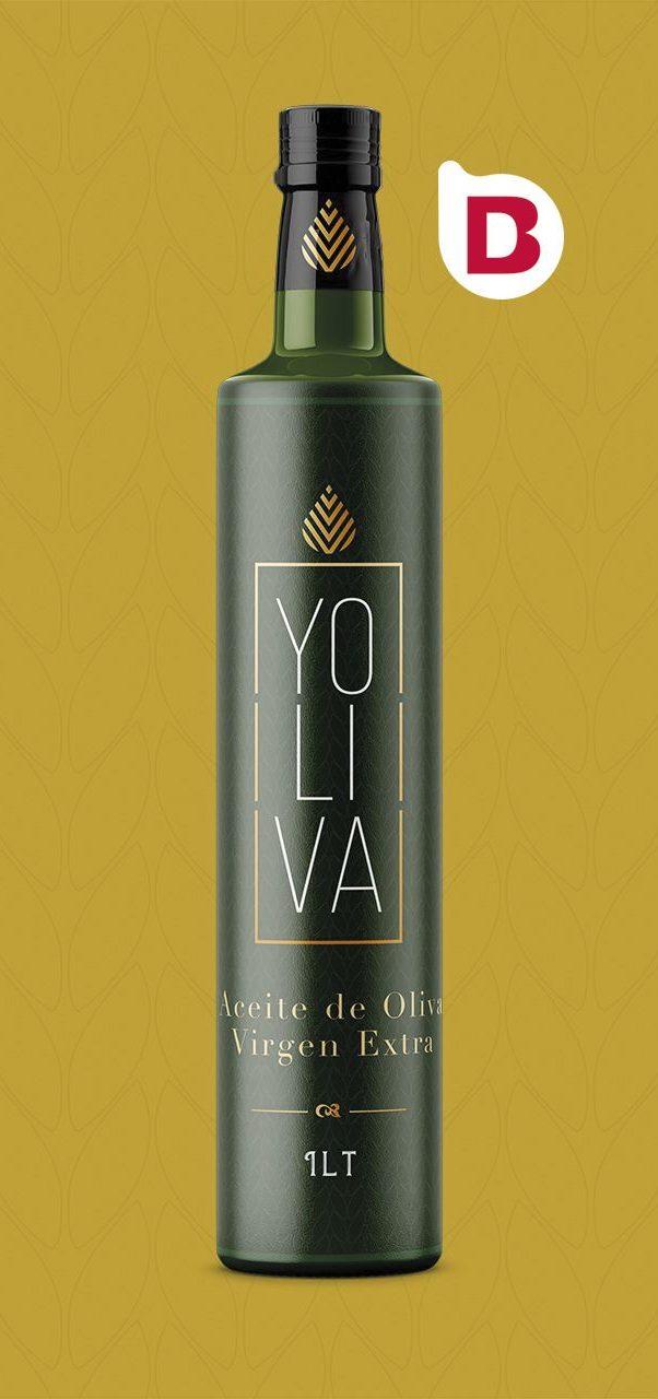 Yoliva una etiqueta de aceite de oliva virgen extra