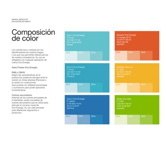 Paleta de colores interfaz gráfica de usuarios