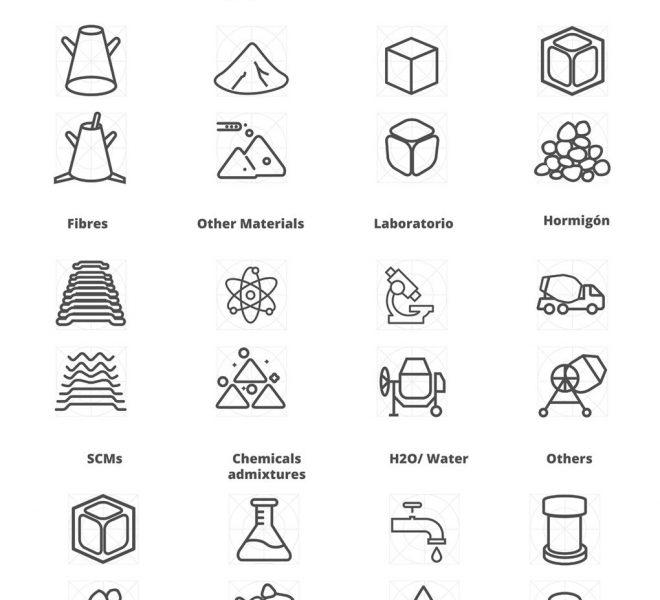 Iconografia diseñada iconos app Brand design madrid