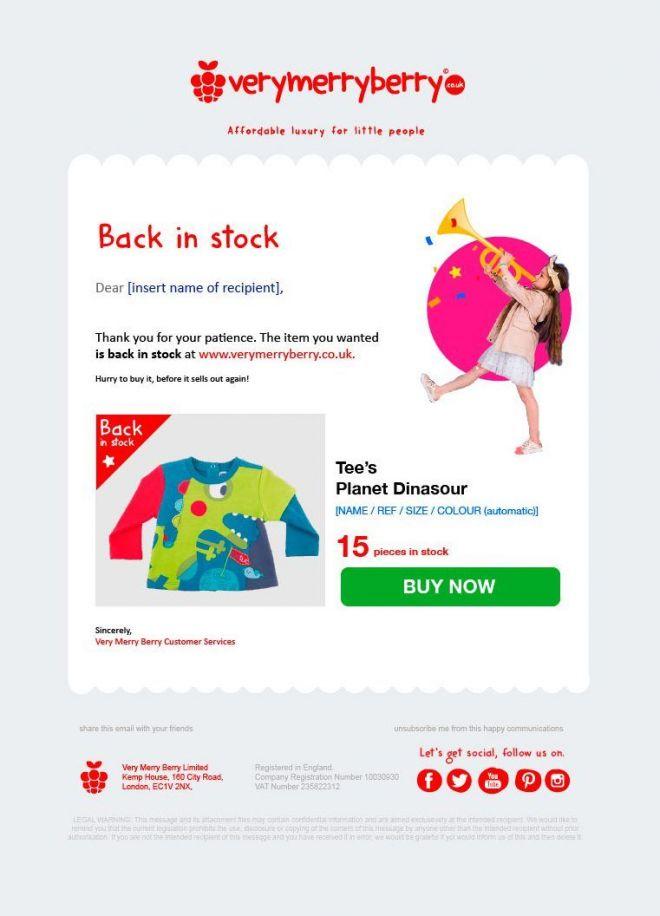 Emailing y newsletter para CRM de tienda Online eCommerce