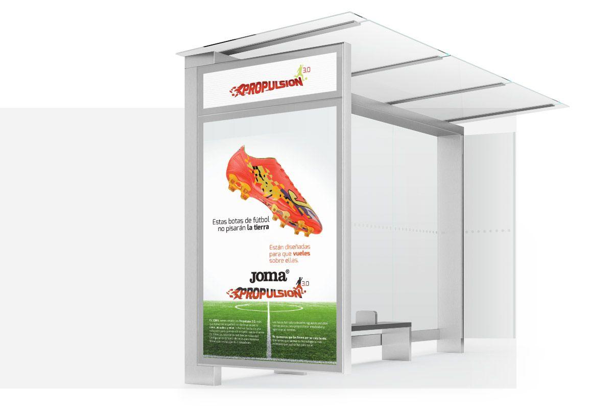 Diseño de cartel parada de autobús madrid agencia diseño grafico madrid