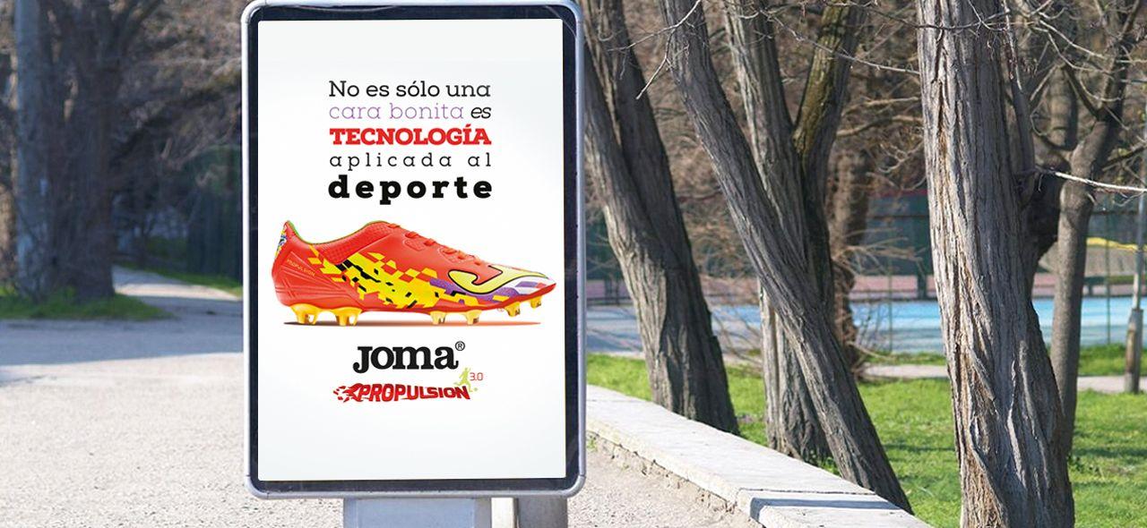 Produccion de creatividades para campaña de publicidad exterior joma