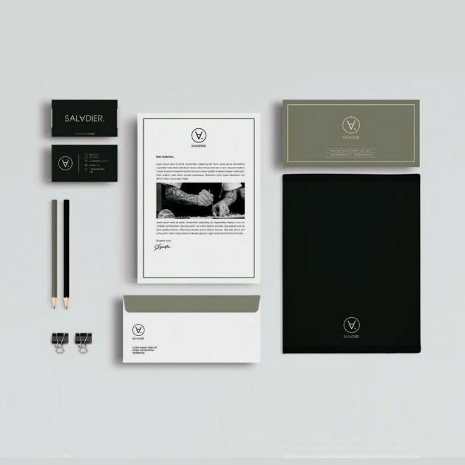 Aplicativos de la marca de restaurante manual de identidad