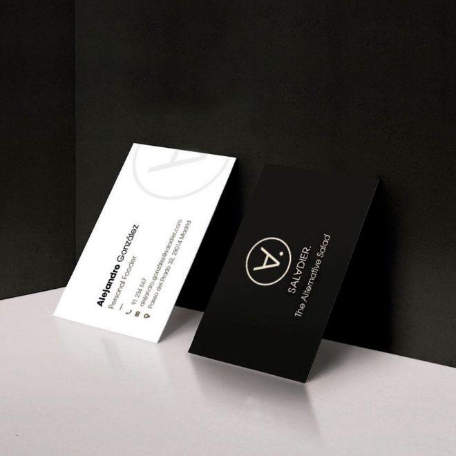aplicaciones de marca en tarjetas de visita