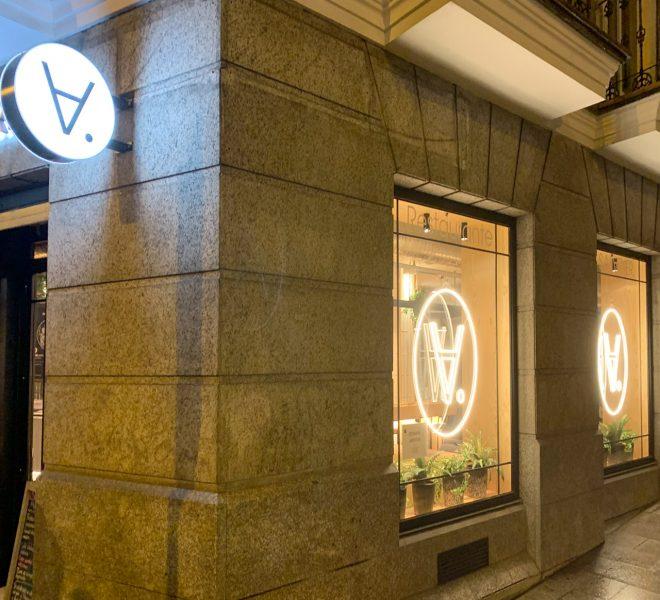 Banderola Carteles exteriores diseño identidad corporativa restaurante