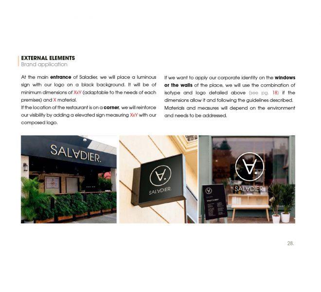 diseño de elementos exteriores de restaurante autor restauración madrid banderola terraza