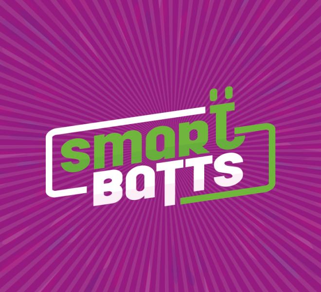 Diseño de logotipo en fondo de color