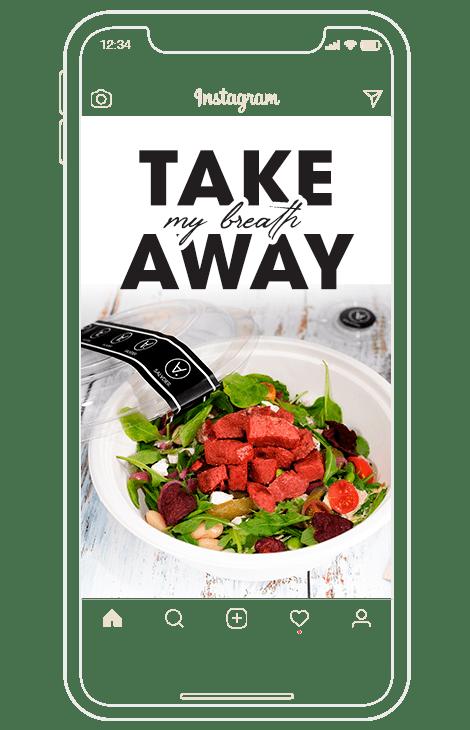 take my breath away con take away packaging y food orders instagram