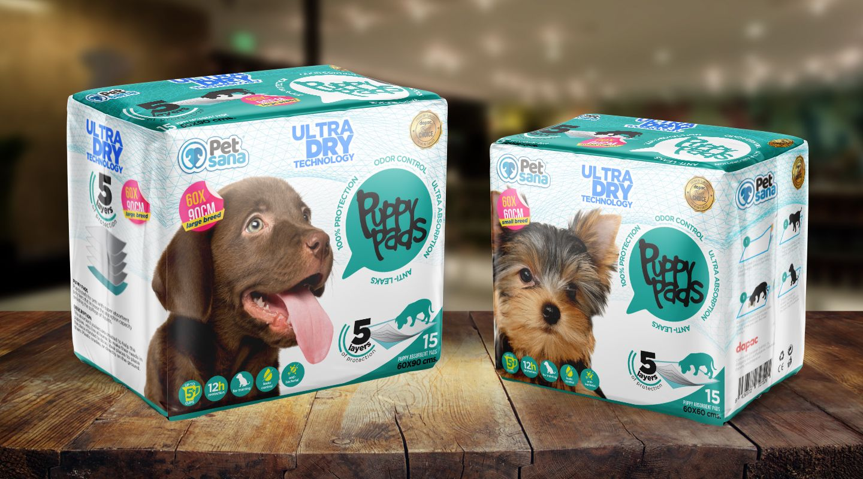 Sacos y etiquetas para linea de productos cuidado de la mascota