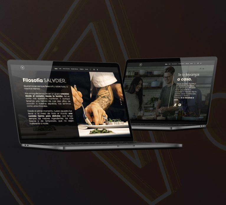 Diseño de la página web del restaurante Saladier madrid agencia de desarrollo web