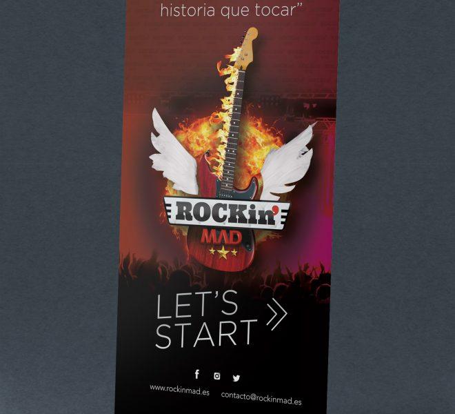 Diseño de RollUp personalizado con tu logo agencia creativa madrid