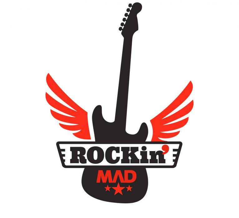 Diseño de logotipo RockinMad escuela de rock madrid