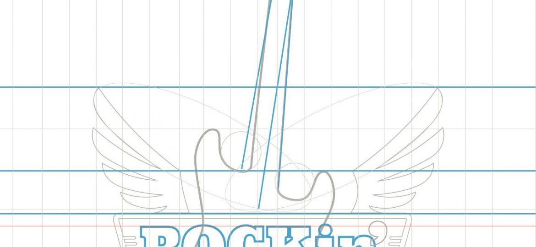 Construccion de bases lineas para construcción de logotipo vectorial