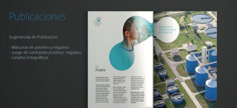 Diseño grafico de inserción de marca en publicaciones