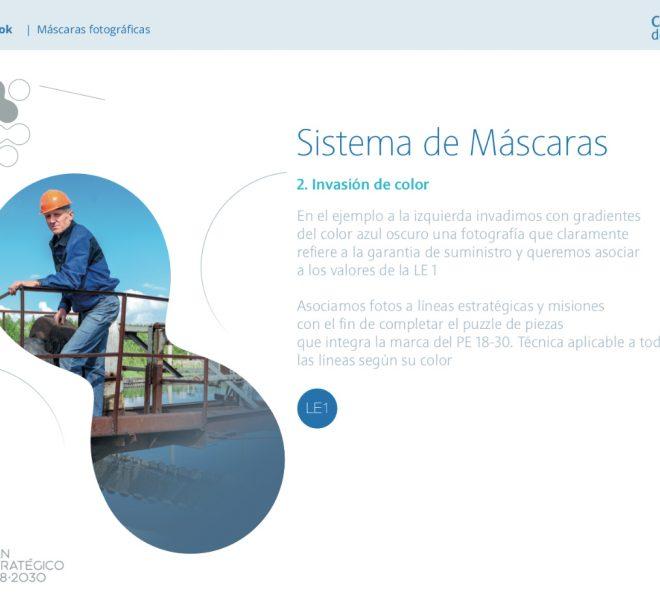 Páginas y secciones de contenido Manual de Identidad Corporativa