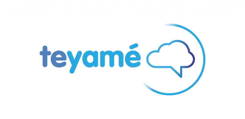 Diseño gráfico del logo de la empresa de tele servicios de marketing