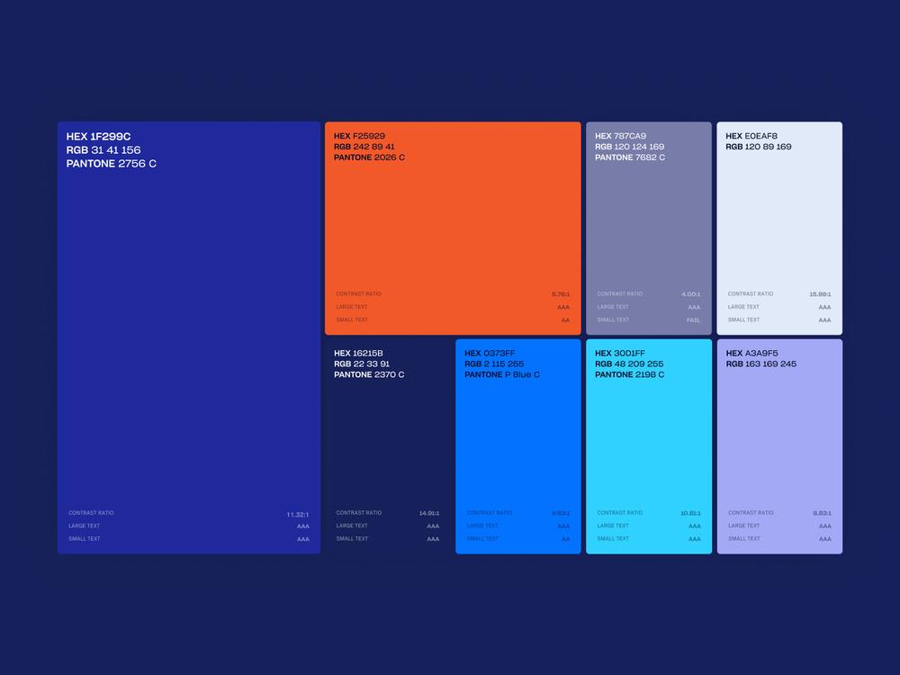 paletas de colores en la identidad corporativa