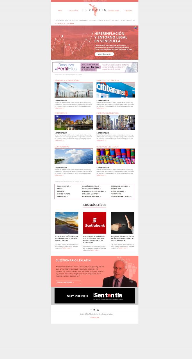 LexLatin newsletter diseño de comunicaciones electrónicas brandesign