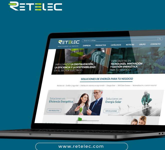 diseño de la pagina web de retened corporativa